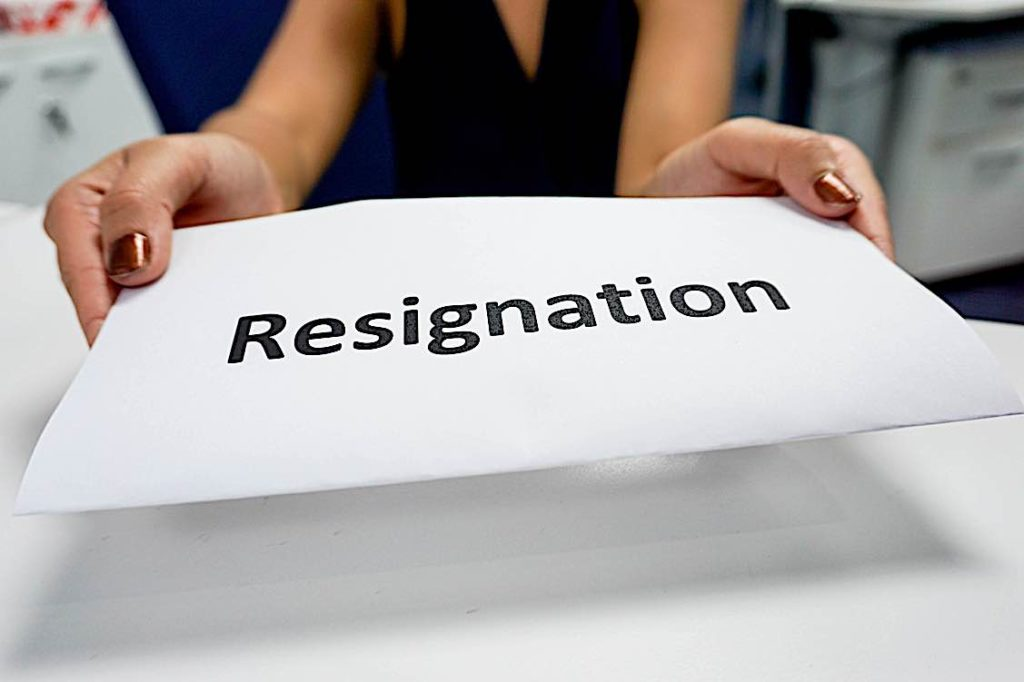 Letter of resignation by agreement of the parties